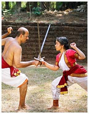 Kalari with swords