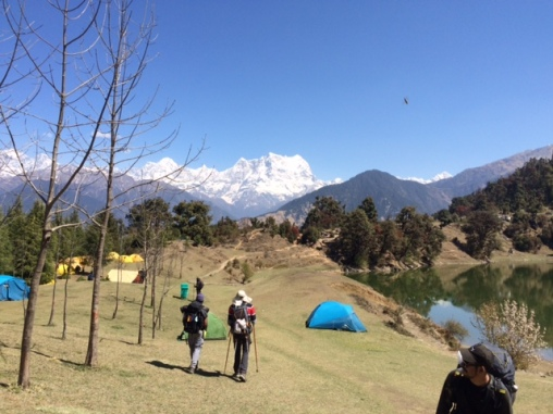 HIMALAYAS IN THE BACKGROUND AT OUR CAMP SITE