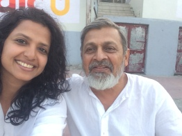 ME AND PANKAJ AT THE GHAT