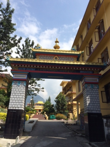 ENTRANCE TO KARMAPA MONASTERY