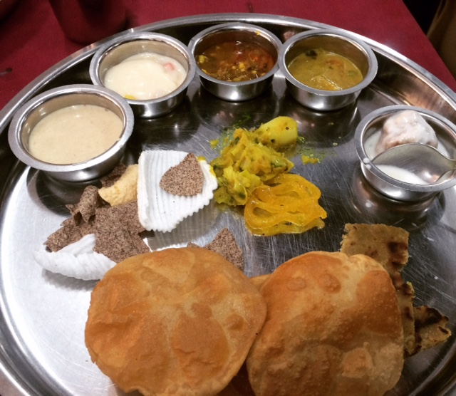 MAHARASHTRIAN THALI AND JUST THE BEGINNING