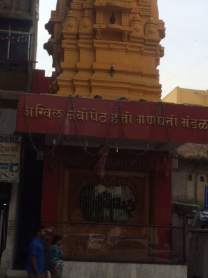 ONE OF THE MANY TEMPLES AT SADASHIV PETH