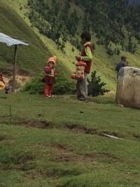 PAHADI GIRL AND HER BROTHER