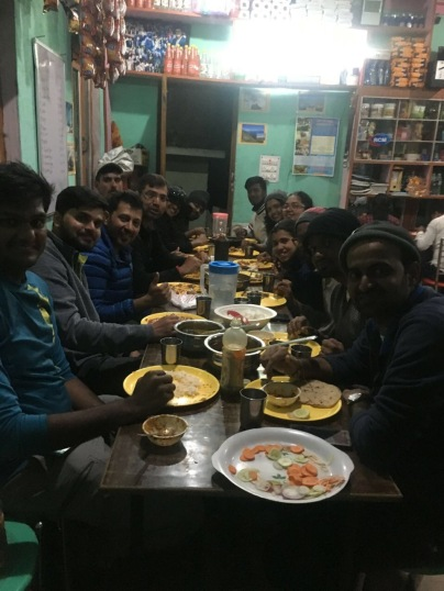 THE GANG AT DINNER IN LOHAJUNG