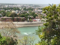 A VIEW OF THE GANGA AND RISHIKESH