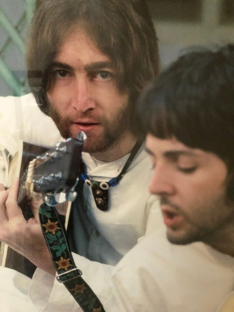 JOHN LENNON WITH PAUL MCCARTNEY - THEIR USUAL MORNING HOURS AT THE ASHRAM