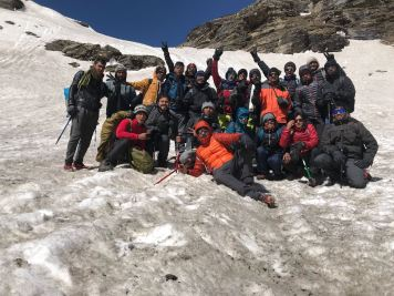 22 OF US AT RUPIN PASS PHOTO CREDIT - AKAASH