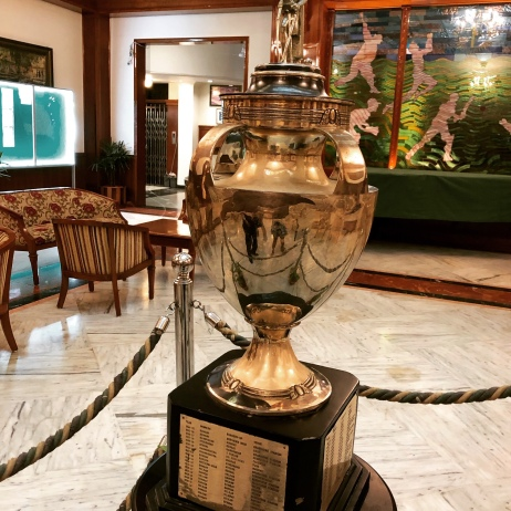 A REPLICA OF THE FAMOUS RANJI TROPHY AT CCI