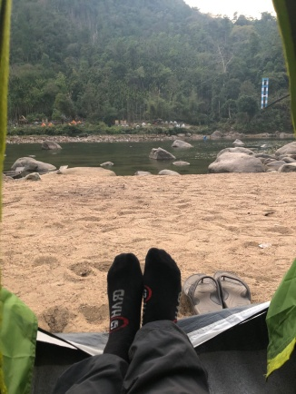 CAMPING IN FRONT OF THE RIVER