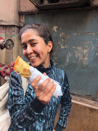 DEEPTI FINALLY GETS TO EAT A PANEER ROLL
