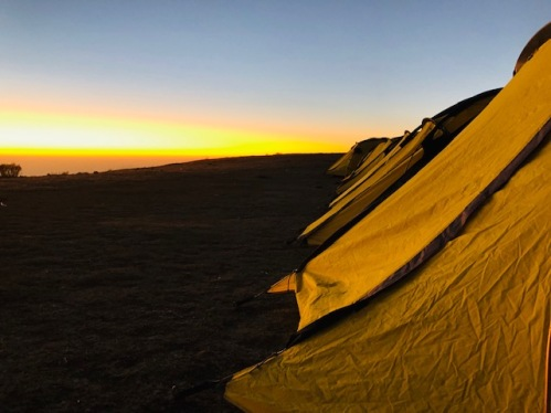 SUNRISE AT CAMP - PHOTO CREDIT - PRIYANKA